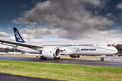 Plane Photograph - Boeing Dreamliner 787 by Puget  Exposure