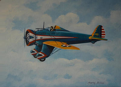 Painting - Boeing P26 by Murray McLeod