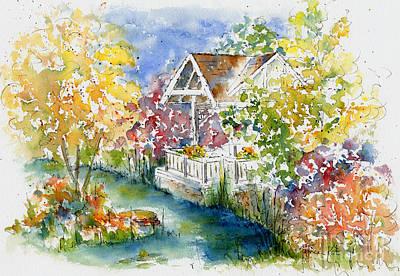 Boffin's Gardens Print by Pat Katz