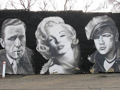 Bogart Monroe And Brando Original by Steven Parker