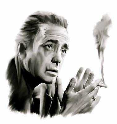 Icon Drawing - Bogey II   Humphrey Bogart   by Iconic Images Art Gallery David Pucciarelli