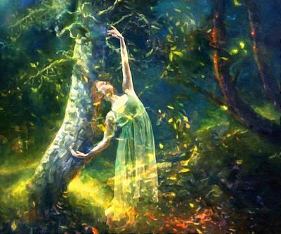 Bohemian Dancer Fantasy Print by Georgiana Romanovna