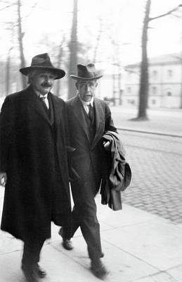 Danish Photograph - Bohr And Einstein by Emilio Segre Visual Archives/american Institute Of Physics
