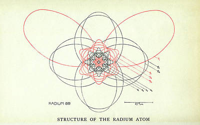 Atom Photograph - Bohr's Radium Atom by Aip Emilio Segre Visual Archives