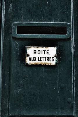 Mail Box Photograph - Boite Aux Lettres by Georgia Fowler