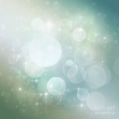 Bokeh Background Print by Mythja  Photography