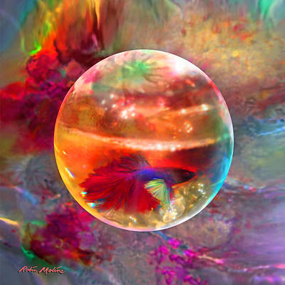 Sphere Painting - Bol De Monet' by Robin Moline