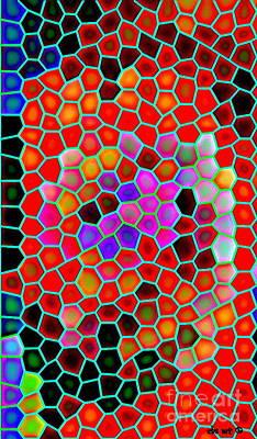 Bold And Colorful Phone Case Artwork Designs By Carole Spandau Cbs Art Exclusives 111 Print by Carole Spandau