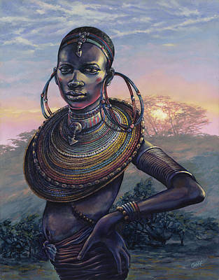 African Woman Painting - Bold by Dennis Goff