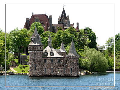 Boldt Castle And Powerhouse Print by Rose Santuci-Sofranko