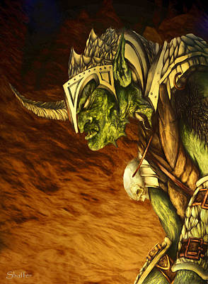 Tolkien Mixed Media - Bolg The Goblin King by Curtiss Shaffer