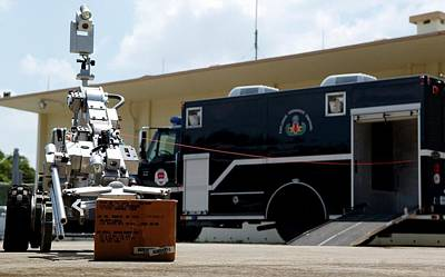 Bomb Disposal Robot Print by Us Air Force/rey Ramon