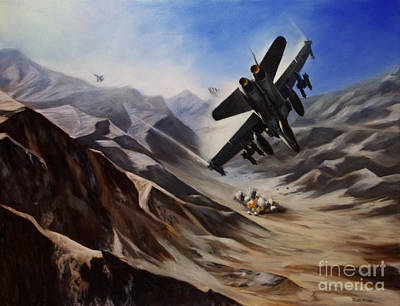 Hornet Painting - Bomb Run by Stephen Roberson
