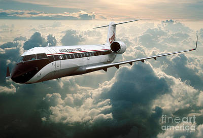Fixed Wing Multi Engine Photograph - Bombardier-canadair Regional Jet Crj by Wernher Krutein