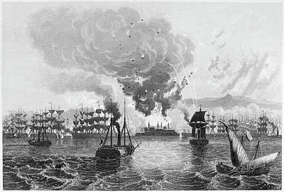 Crisis Painting - Bombardment Of Acre, 1840 by Granger