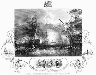Bombardment Of Algiers Print by Granger