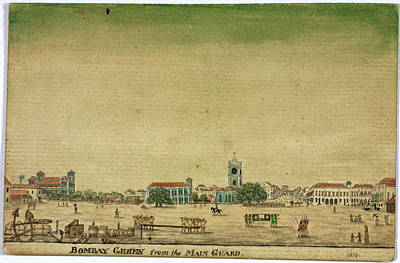 Bombay Green From The Main Guard Print by British Library