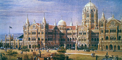 1880s Painting - Bombay Railroad Station by Granger