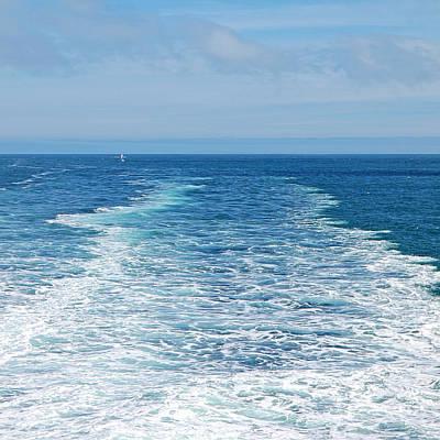 Abstract Seascape Photograph - Bon Voyage by Gill Billington