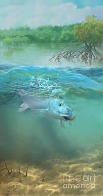 Bone Fish Print by Rob Corsetti