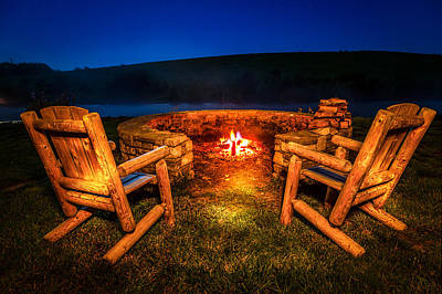 Empty Chairs Photograph - Bonfire by Alexey Stiop