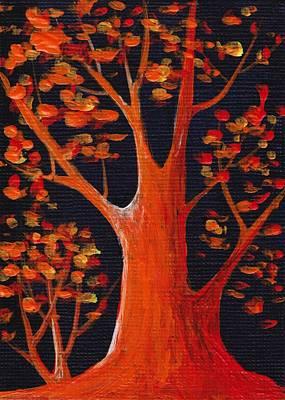 Bonfire Reflection Print by Anastasiya Malakhova