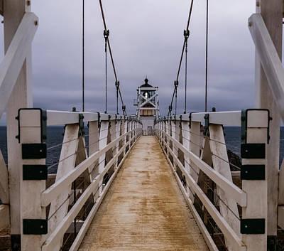 Bonita Point Photograph - Bonita Point Lighthouse by Mike Ronnebeck