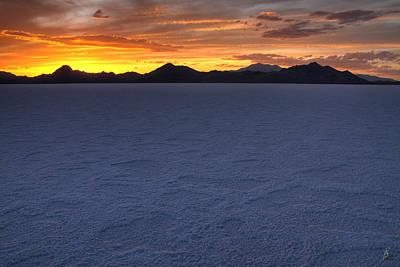 Landscape Photograph - Bonneville Salt Flats Sunset by Brett Pelletier