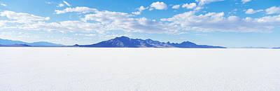 Dry Lake Photograph - Bonneville Salt Flats, Utah, Usa by Panoramic Images