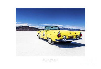 Dry Lake Racing Photograph - Bonneville T-bird by Holly Martin