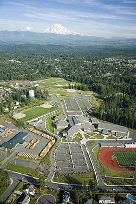 Photograph - Bonney Lake High School, Mount Rainier by Andrew Buchanan/SLP