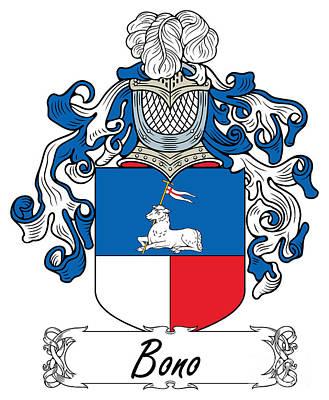 Bono Digital Art - Bono Coat Of Arms Italian by Heraldry