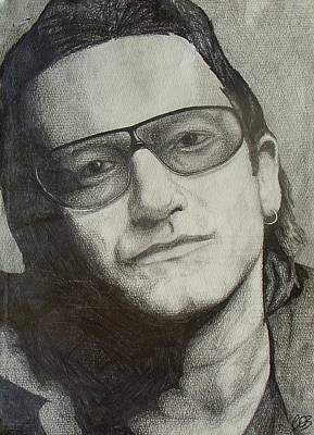 U2 Drawing - Bono by Conor OBrien
