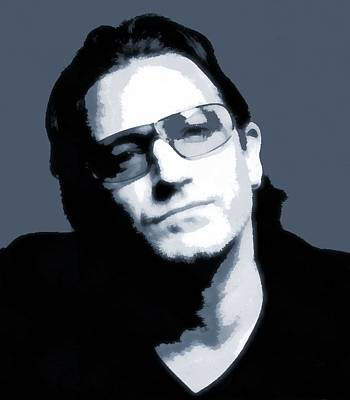 U2 Digital Art - Bono by Dan Sproul