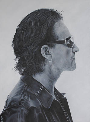 U2 Painting - Bono by David Dunne
