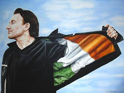 Bono Painting - Bono Flag by Mark Baker