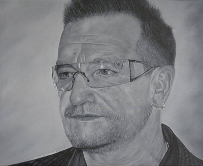 U2 Painting - Bono IIi by David Dunne