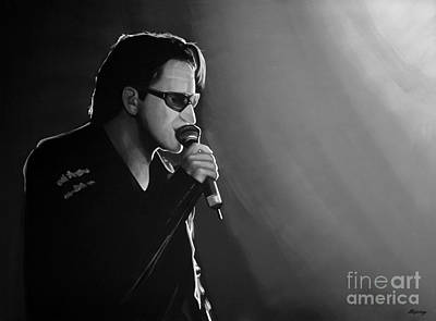 Irish Rock Band Mixed Media - Bono by Meijering Manupix