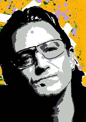 Bono Digital Art - Bono by Stephenie Lee