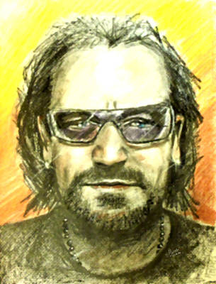 Bono - U2 Original by Marcello Cicchini