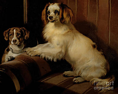 Dog Portrait Painting - Bony And Var by Sir Edwin Landseer