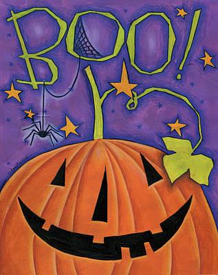 Halloween Painting - Boo by Anne Tavoletti