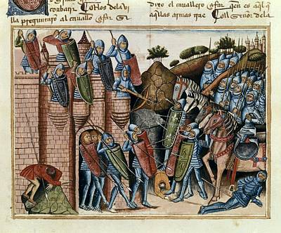 Caballero Photograph - Book Of Knight Zifar. Ca. 1300. First by Everett