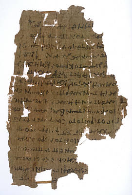 Papyrus Photograph - Book Of Revelation by British Library