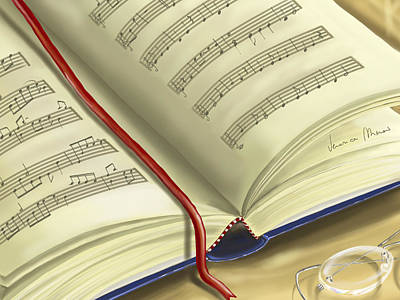 Music Book Painting - Book by Veronica Minozzi
