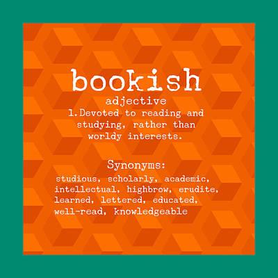 Bookish Print by Bonnie Bruno