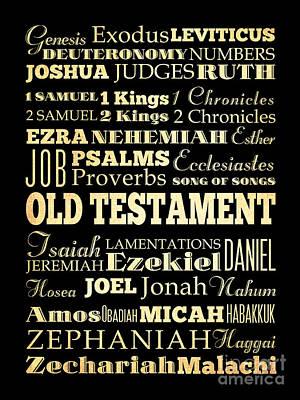 Jonah Digital Art - Books Of Old Testament by Joy House Studio