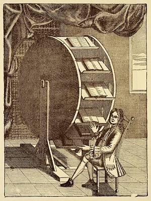 Bookwheel Illustration. Print by David Parker