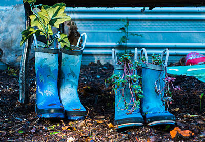 Photograph - Boot Planters by Ron Roberts