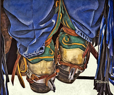 Chaps Painting - Boot Scoot by JK Dooley
